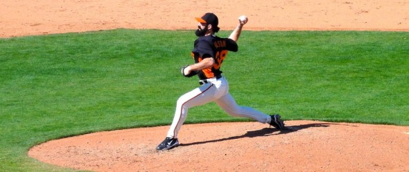 For San Francisco Giants closer Brian Wilson is still recovering from Tommy John Surgery, but could find a new home sometime this season. Photo by: Danny Mac / Flickr