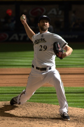 Milwaukee Brewers relief pitcher has a chance to lead his team in saves this year after he replaced John Axford at closer. Photo by: Steve Paluch